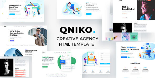 Download Qniko - Startup Agency HTML5 Template With RTL Support }}