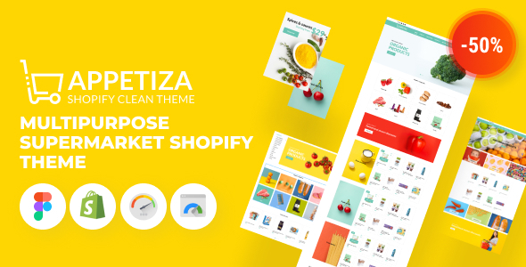 Appetiza – Supermarket Shopify Theme – Online Grocery Shop and Delivery