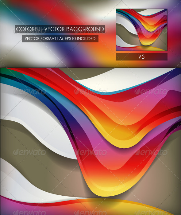 Colorful Vector Background V5 - Backgrounds Decorative