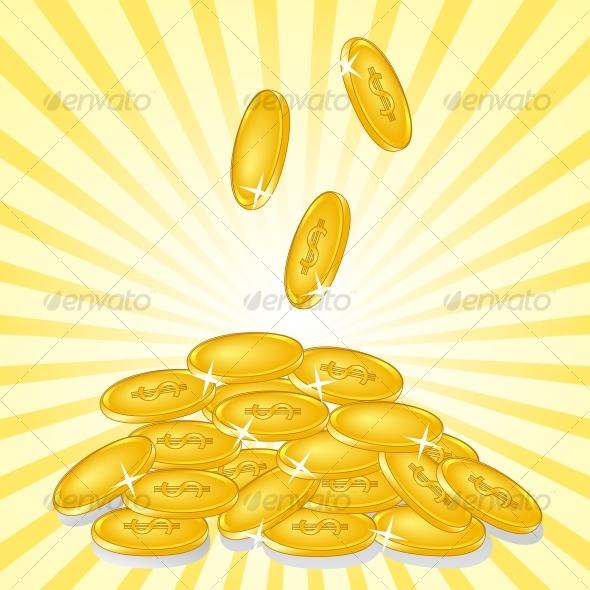 golden coins - Business Conceptual