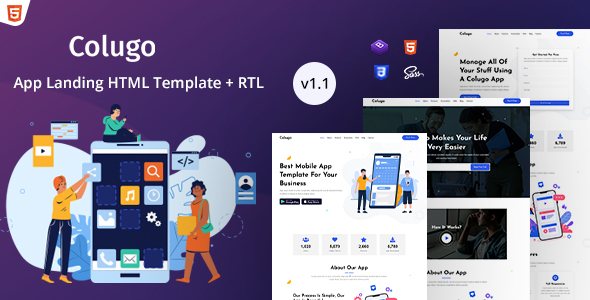 Colugo - App Landing Page HTML Template
