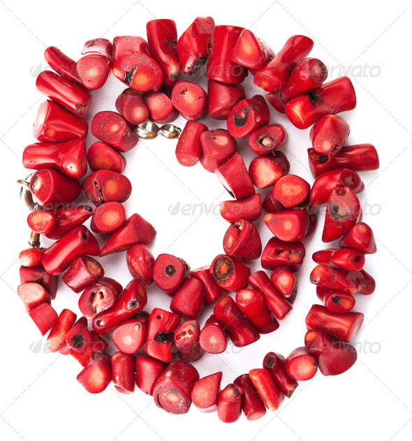 coral necklace - Stock Photo - Images