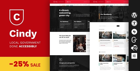 Download Cindy - Accessible Local Government WordPress Theme }}