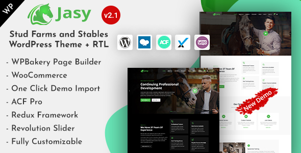 Jasy - Horses & Stables WordPress Theme