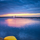 Yellow bollard at sunset - PhotoDune Item for Sale