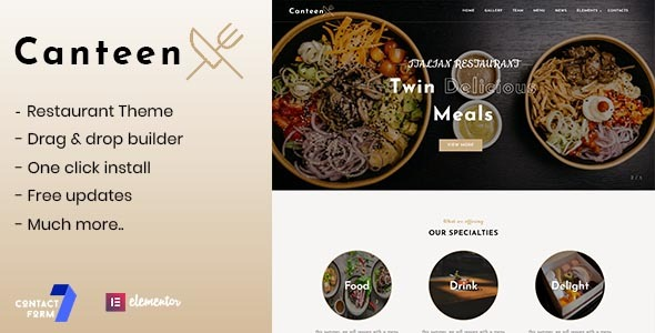 Download Canteen – Restaurant WordPress Theme Free Nulled