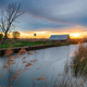 Sunset over the river Thurne at West Somerton - PhotoDune Item for Sale