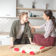 young happy couple at home kitchen interior - PhotoDune Item for Sale