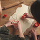 young lovely couple making cookies in heart shape - PhotoDune Item for Sale