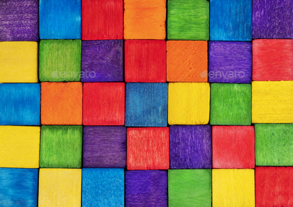 Colorful cubes background - Stock Photo - Images