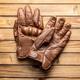 Brown vintage motorcycle gloves. - PhotoDune Item for Sale
