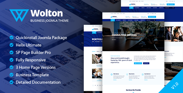 Wolton – Business & Corporate Joomla Template