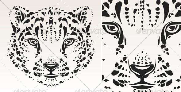 Snow leopard head - Animals Characters