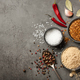 Various spices for cooking on stone background - PhotoDune Item for Sale