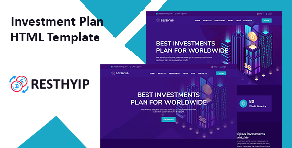 Resthyip - HYIP & Financial Investment HTML Template