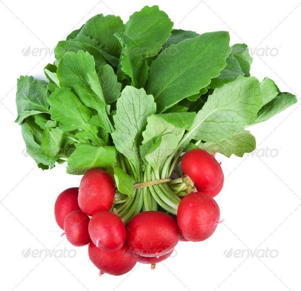 fresh radish isolated - Stock Photo - Images