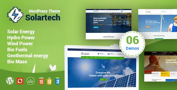 Solar Tech - Alternative & Renewable Energy WordPress Theme