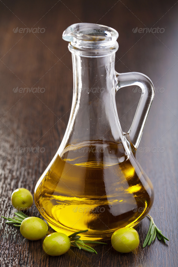 olive oil and olives - Stock Photo - Images