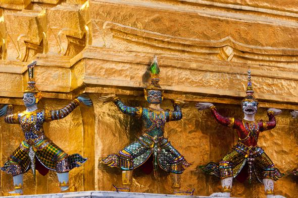 The Grand Palace, Bangkok, Thailand - Stock Photo - Images