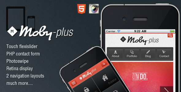 Moby-Plus Mobile and Tablet HTML5 Template