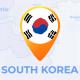 South Korea Map - Republic of Korea ROK Travel Map - VideoHive Item for Sale