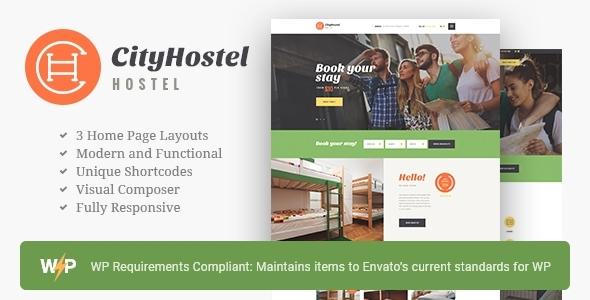 City Hostel | A Travel & Hotel Booking WordPress Theme
