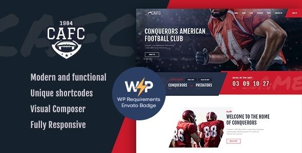 Conquerors   American Football & NFL WordPress Theme