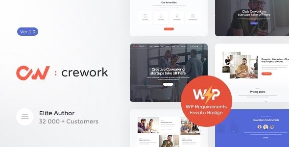 Extraordinary Crework | Coworking and Creative Space WordPress Theme