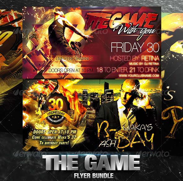 The Game Flyer Bundle - Clubs & Parties Events