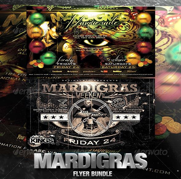 Mardigras Flyer Bundle - Clubs & Parties Events