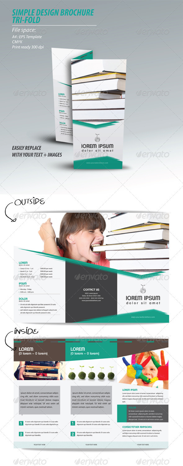 simple design brochure - Informational Brochures