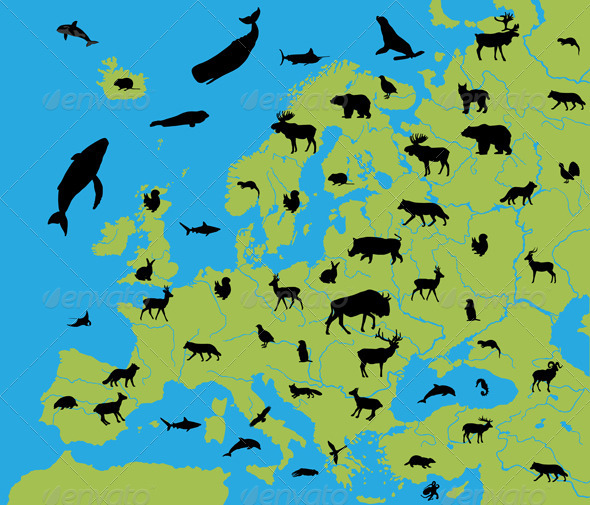 Animals of Europe - Animals Characters