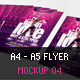 A4 - A5 Flyer Mockup 04 - GraphicRiver Item for Sale