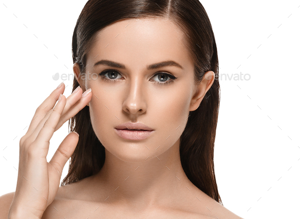 Beauty face woman healthy skin cosmetic spa concept beautiful female model healthy - Stock Photo - Images
