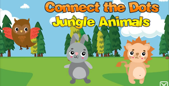 Connect The Dots Jungle Animals