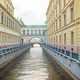 View of canal in beautiful city in Saint Petersburg. Buildings from both sides of the river - PhotoDune Item for Sale