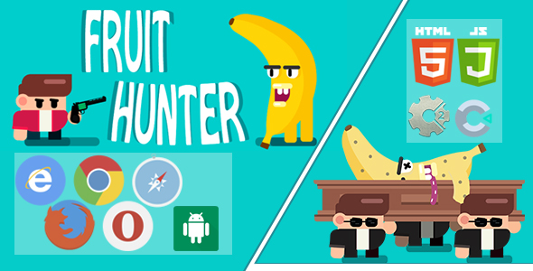 FRUIT HUNTER - PC, Mobile Game, Desktop Game, Construct 2 and construct 3. Capx and C3p.