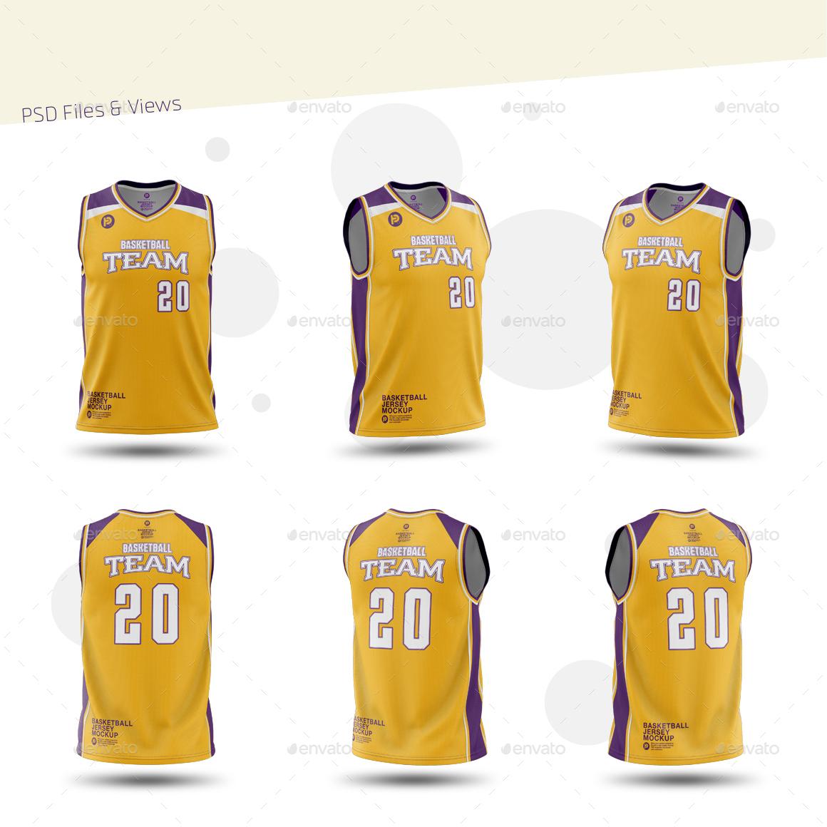 Download Men's V-Neck Basketball Jersey Mockup by TRDesignme ...
