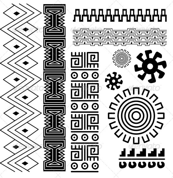 Ancient american pattern - Decorative Symbols Decorative