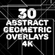 4k Abstract Geometric Overlays Pack - VideoHive Item for Sale
