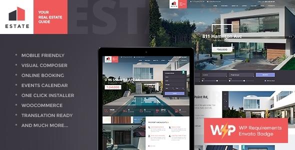 Estate - Property Sales & Rental WordPress Theme + RTL