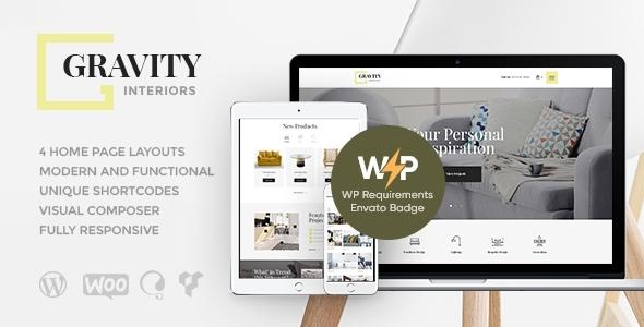 Gravity   A Contemporary Interior Design & Furniture Store WordPress Theme