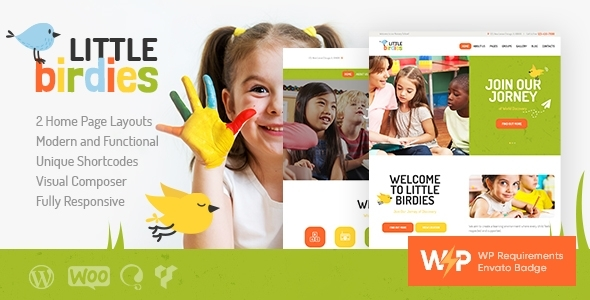 Little Birdies | A Multipurpose Children Kindergarten WordPress Theme