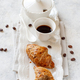 Breakfast tray with coffee cup and croissant - PhotoDune Item for Sale