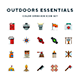 Outdoors Essentials Icons