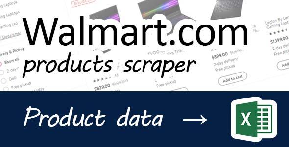 Walmart goods scraper
