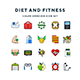 Diet and Fitness Icons