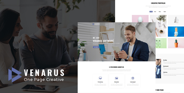 Marvelous Veranus - One Page HTML Template