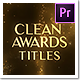 Golden Particles Award Titles – Mogrt - VideoHive Item for Sale