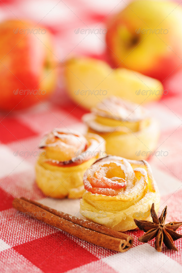 Apple pies dessert - Stock Photo - Images